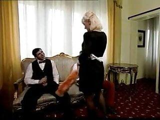 Vintage tuxedo stud - Big tits maid serve 2 studs