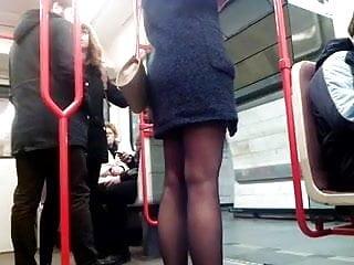 Im bringing sexy Sexy legs im metro 4 sexy beine in der u-bahn 4