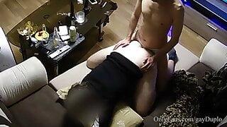 Curious straight friends caught fucking on hidden camera