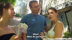 CZECH COUPLES - Young Couple Takes Money for Public Foursome
