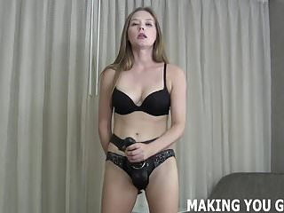 Huge balls in ass - This huge strapon is going up your ass balls deep