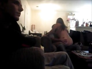 Pittt naked Wife naked on brothers lap, husband watches