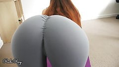 Cumming in My Panty And Yoga Pants - Big Cum Load Step Sis