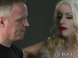 Tied up to a sex doll Bdsm xxx innocent subs are slapped up tied up and fucked up