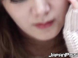 Japanese girl pee panties Naughty japanese sweetie peeing through red panties