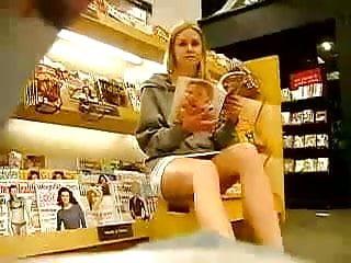 Girl showing upskirt Upskirt - blonde girl showing her pant