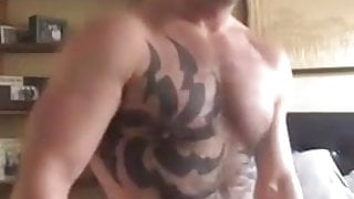 TATTOOED DILF WITH THICK COCK