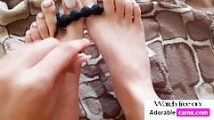 SEXY PEDICURED FEET AND PERFECT TOES
