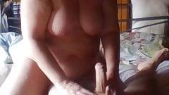 Orgasm on my man's leg