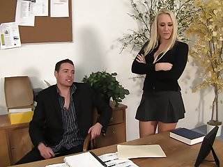 Girls getting fucked over desk - Wankz- milf boss alana evans bent over the desk for a savage