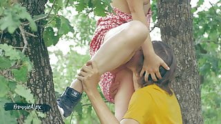 Sexy Blonde girl fucked in the woods