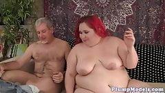 Busty ssbbw redhead gets her cunt fucked