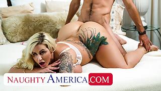 Naughty America - Busty blonde MILF Ryan Conner fucks Ryan