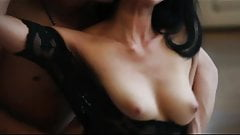 SEXY Asian brunette in lingerie is fucked to orgasm