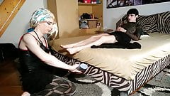 Feet licking & massage a cd tv sissy slave to mistress pt1