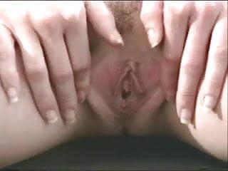 Spread ass cheeks for piss - Sexy blonde nerd spreads her ass cheeks