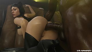 Catwoman gets BBC Anal