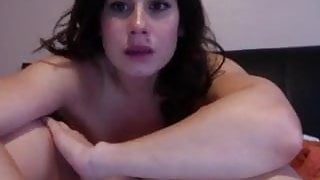 Chloe Lamb - talking and stipping fully nude on webcam.