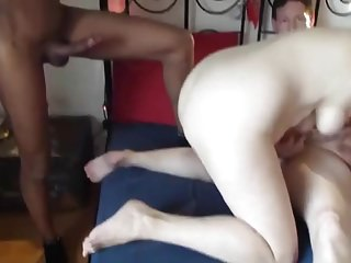 My wife fucks a black man - A man with a black man fucks his wife
