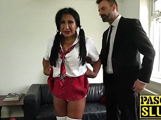 Men spank spunk Milf schoolgirl spanked and dicked before eating spunk