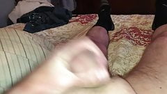 A nice cumshot after shower with my little friend in my ass