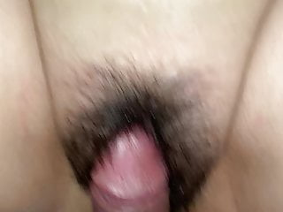 Rubing her pussy Rubing cock fat hairy pussy