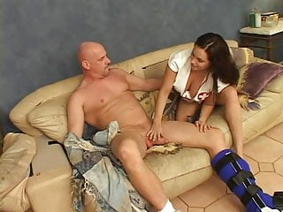 Big tits nurses Nurse with big tits sucks a cock