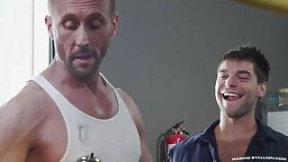 Muscled Boss fuck workshop