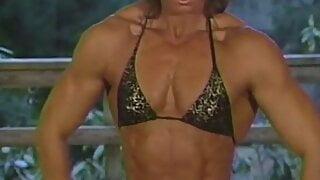 Joanne McCartney -gold&black bikini, indoor