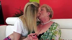 Old 59y and young 23y lesbian