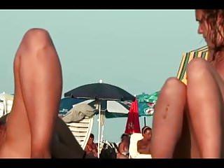 Nude video shoot - Nude beach voyeur shoots hotties with a hidden cam