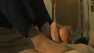 Nylon Footjob