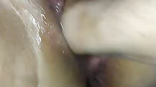 Feeding my loose pussy lunch , a hand a cock & a creampie