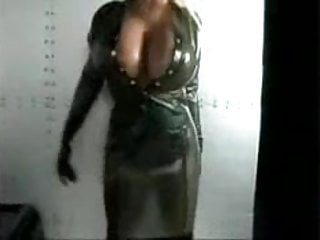Tina angel nude Tina angel in green latex dress
