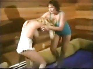 Naked legs in catfights Retro naked wrestlinbg