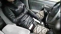 fake lady black leather