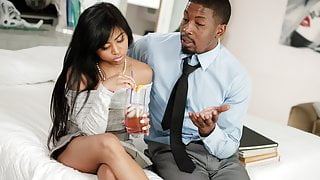 Ember Snow and her black step father