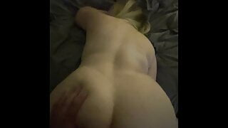 Taking gorgeous big-ass blonde from behind