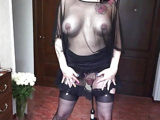 Inflatable clit cervix insert pump - Kinky slut pussy pumping gaping insertion