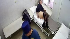 Real-life rectal exam of middle-age woman, vid 9