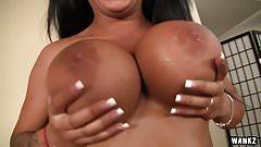 WANKZ- Kerry Louise Reveals Sexy Black Big Tits
