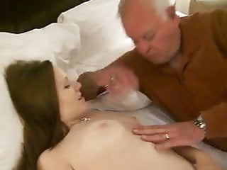 Asian hot woman young Hot woman receives a oral from a 82 year old man