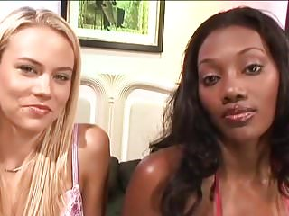 Bleach xxx hentia Bleached: ebony and blonde share a white cock bwc black