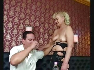 Old grannie ass hole Dirty old granny barmaid serves up all her holes