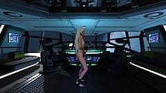 Sci-Fi - Sporty masturbation on spaceship. Variant 2.