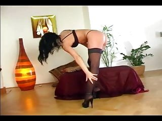Panties and stockings porn Babe masturbates in panties and stockings