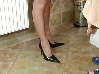 Daughter caught sex Daughter caught in bathroom by young step dad and fuck