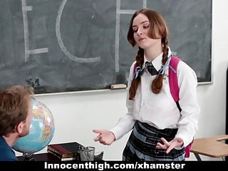 Speech mechanism vibrator Innocenthigh - shy schoolgirl fucks her speech teacher