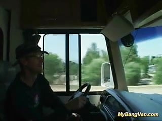 Is vanness hugnes in porn Nasty babe gets banged in the van with three big cocks