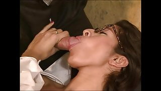 Doctor fucks his hairy assistant Francesca, upscaled to 4K